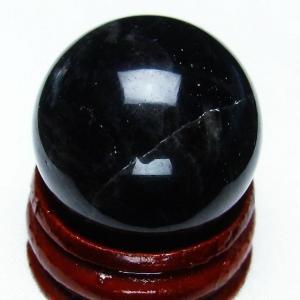 モリオン 純天然 黒水晶  丸玉 26mm  t220-3710|seian