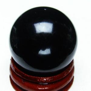 モリオン 純天然 黒水晶  丸玉 28mm t220-3723|seian