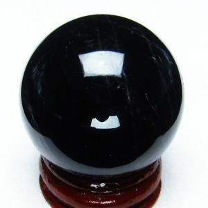 モリオン 純天然 黒水晶  丸玉 35mm  t220-3750|seian