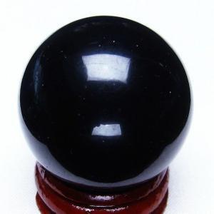 モリオン 純天然 黒水晶  丸玉 34mm t220-3768|seian