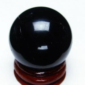モリオン 純天然 黒水晶  丸玉 32mm t220-3776|seian