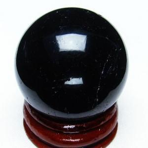 モリオン 純天然 黒水晶  丸玉 32mm t220-3780|seian