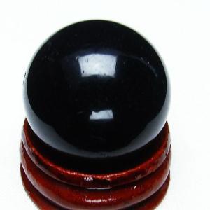 モリオン 純天然 黒水晶  丸玉 26mm t220-3805|seian