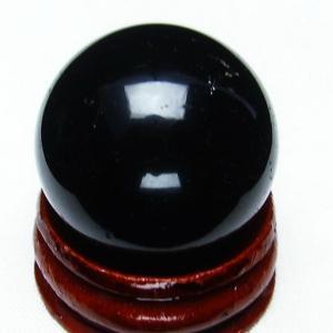 モリオン 純天然 黒水晶  丸玉 26mm t220-3806|seian