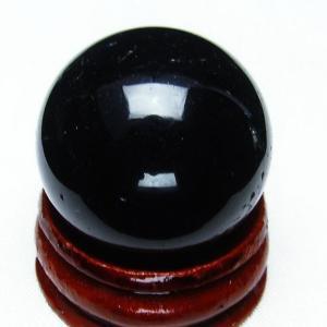 モリオン 純天然 黒水晶  丸玉 27mm t220-3807|seian