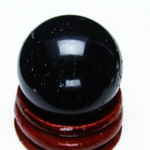 モリオン 純天然 黒水晶  丸玉 26mm t220-3811|seian