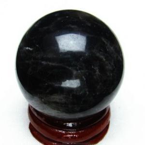 モリオン 純天然 黒水晶  丸玉 35mm  t220-3862|seian