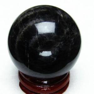 モリオン 純天然 黒水晶  丸玉 38mm  t220-3878|seian