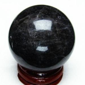モリオン 純天然 黒水晶  丸玉 38mm  t220-3883|seian