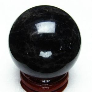 モリオン 純天然 黒水晶  丸玉 40mm  t220-3886|seian