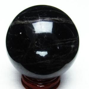 モリオン 純天然 黒水晶  丸玉 50mm  t220-3916|seian