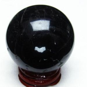 モリオン 純天然 黒水晶  丸玉 42mm  t220-3929|seian