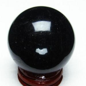 モリオン 純天然 黒水晶  丸玉 39mm  t220-3951|seian