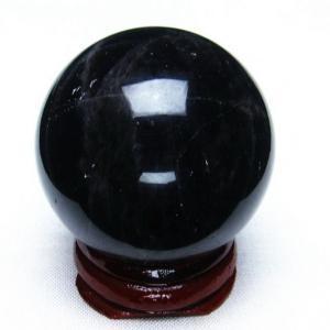 モリオン 純天然 黒水晶  丸玉 39mm  t220-3954|seian