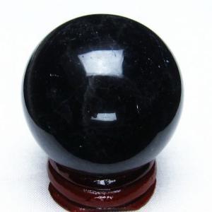 モリオン 純天然 黒水晶  丸玉 39mm  t220-3955|seian