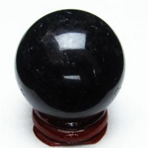 モリオン 純天然 黒水晶  丸玉 39mm  t220-3966|seian
