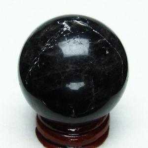 モリオン 純天然 黒水晶  丸玉 40mm  t220-4647|seian