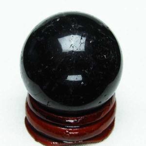 モリオン 純天然 黒水晶  丸玉 30mm  t220-4739|seian