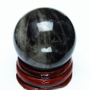 モリオン 純天然 黒水晶  丸玉 29mm  t220-5067|seian