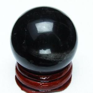モリオン 純天然 黒水晶  丸玉 31mm  t220-5071|seian