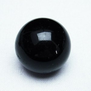 モリオン 純天然 黒水晶  丸玉 26mm  t220-5928 seian