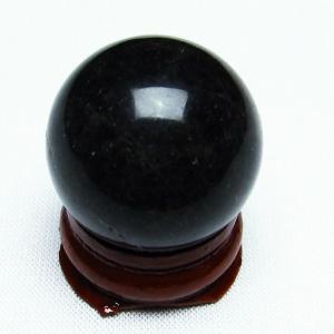 モリオン 純天然 黒水晶  丸玉 27mm  t220-6880|seian
