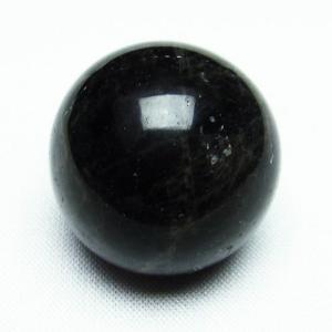 モリオン 純天然 黒水晶  丸玉 28mm  t220-7057|seian