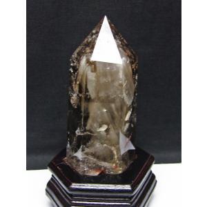 虹入り ライトニング水晶ガーデンクォーツ(庭園水晶) 六角柱 t222-2036 seian