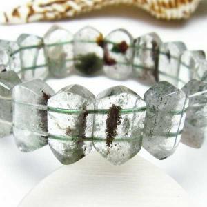 ガーデンクォーツ(庭園水晶) バングル  パワーストーン 天然石 t229-3996|seian