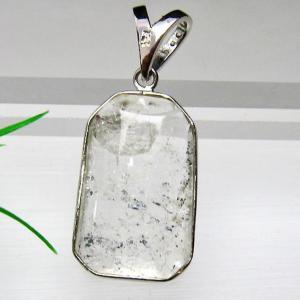 スティブナイト(輝安鉱)入り 水晶 ペンダント  T252-1212|seian