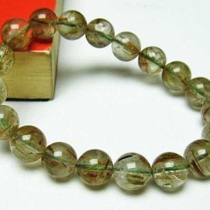 グリーンエピドート 緑簾石 ブレスレット 11mm  t270-2492 seian