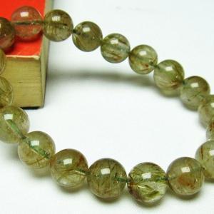グリーンエピドート 緑簾石 ブレスレット 11mm  t270-2500 seian