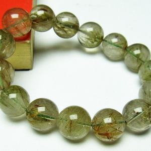 グリーンエピドート 緑簾石 ブレスレット 15mm  t270-2533 seian