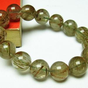 グリーンエピドート 緑簾石 ブレスレット 14mm  t270-2534 seian