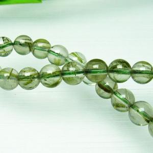 グリーンエピドート 緑簾石 ブレスレット 7mm  t270-2677|seian