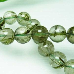 グリーンエピドート 緑簾石 ブレスレット 12mm  t270-2711 seian