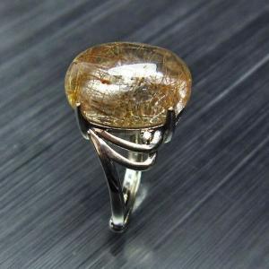 ルチルクォーツ(金針ルチル水晶) 指輪 t275-17171|seian