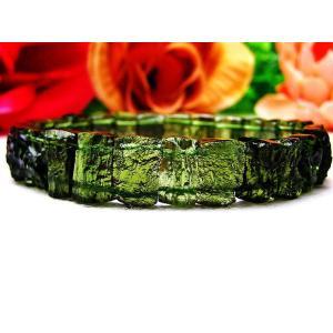 モルダバイト バングル 原石 天然ガラス 本物 隕石  パワーストーン 天然石 t284-2|seian|02