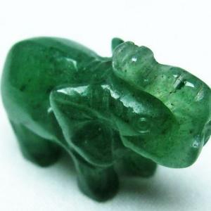 インド翡翠 象 置物 T292-2521|seian
