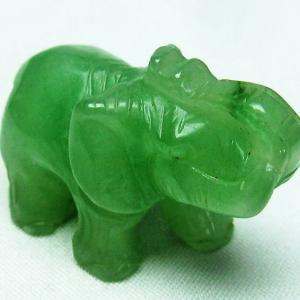 インド翡翠 象 置物 t292-2745