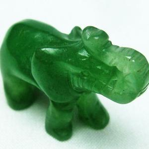 インド翡翠 象 置物 T292-2801|seian