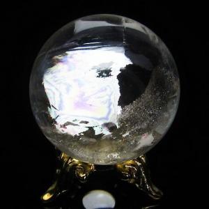 水晶玉 天然 置物 ヒマラヤ水晶 丸玉 28mm 虹入り t294-2650|seian