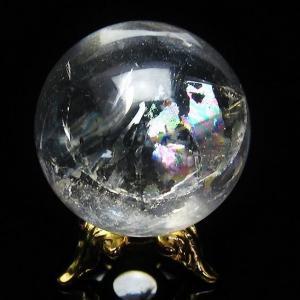 水晶玉 天然 置物 ヒマラヤ水晶 丸玉 31mm 虹入り t294-2698|seian