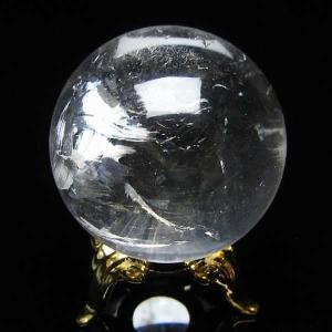 水晶玉 天然 置物 ヒマラヤ水晶 丸玉 35mm 虹入り t294-2989|seian