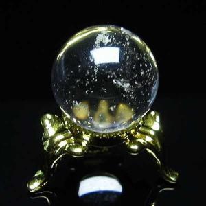 水晶玉 置物 ヒマラヤガーデンクォーツ 庭園水晶 丸玉 20mm パワーストーン 天然石 t294-3087|seian