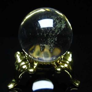 水晶玉 置物 ヒマラヤガーデンクォーツ 庭園水晶 丸玉 21mm パワーストーン 天然石 t294-3099|seian