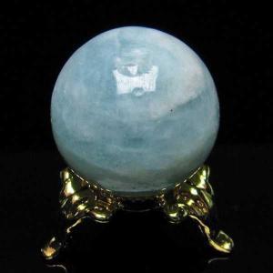 アクアマリン  丸玉 25mm  パワーストーン 天然石 t294-3375|seian