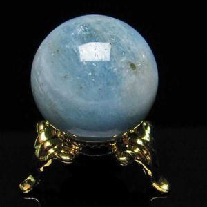アクアマリン  丸玉 24mm  パワーストーン 天然石 t294-3378|seian