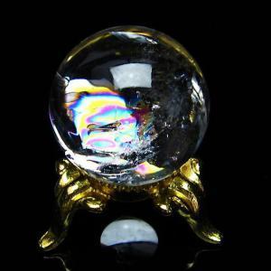 虹入り ヒマラヤ水晶 丸玉 24mm  t294-4398|seian