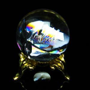虹入り ヒマラヤ水晶 丸玉 26mm  t294-4539|seian